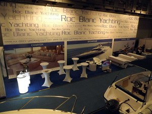 Messestand Roc Blanc Yachting